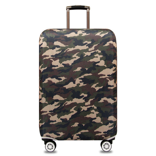 OKOKC Dark Camouflage Elastic Thicken Travel Suitcase Protective Luggage Cover Apply to 18''-32'' Case Suitcase, Travel