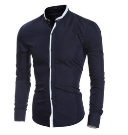Men's Slim Business Casual Brand Clothing Long Sleeve
