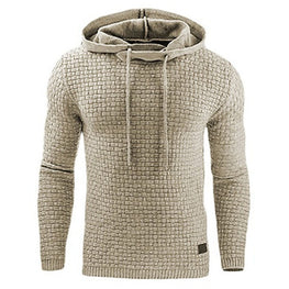 Male Long Sleeve Solid Color Hooded Sweatshirt Mens Hoodie