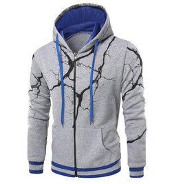 Hoodie Men Cardigan Lightning 3d Printing Hip Hop Sweatshirts Men Brand Hoodies Winter Sportswear Male Pullover XXXL