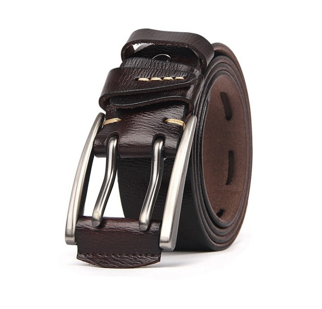 New Arrival Belt for Men Fashion Men Leather Belt Male Strap Waistband for Men 2017 Men Genuine Leather Belt 4.0cm width