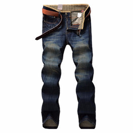 Men Fashion Summer Style Brand Clothing Slim Fit Denim blue Jeans