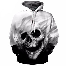Skull Hoodie Hoodies Men Women Long Sleeve Autumn Winter Brand Hooded Sweatshirt Casual Pullover 3D Hoody Tops Dropship