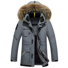 Speed Hiker Thick Down Jacket Winter With Hood Detached Warm Waterproof Fur Collar For -40 degrees K3065