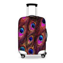 WHOSEPET Leaf Case Covers Luggage Suitcase Protective Cover For 18 to 28 Inch Trunk,Women Luggage Accessories 3D Suitcase Cover