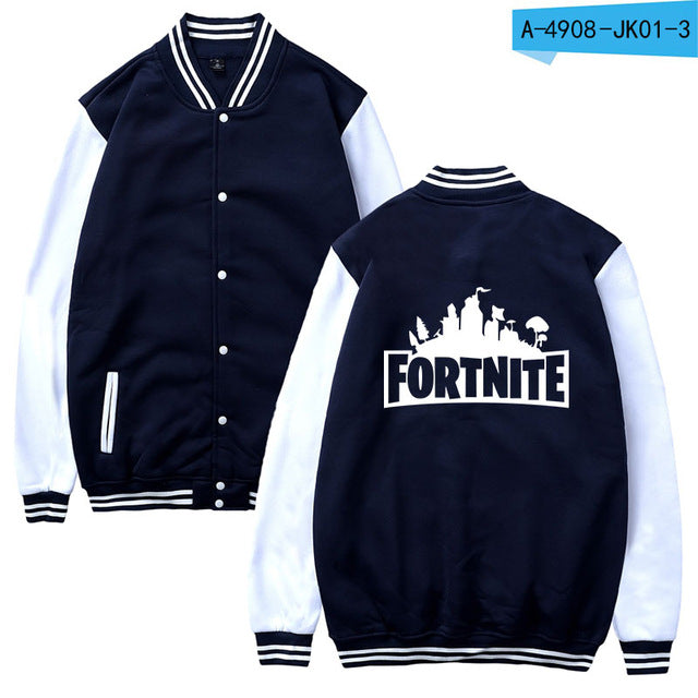 SMZY Fortnite Baseball Jacket Hoodies Sweatshirt Tops Pullovers Men Pop Funny FPS Games Hoodies Mens Sweatshirts Jacket Clother