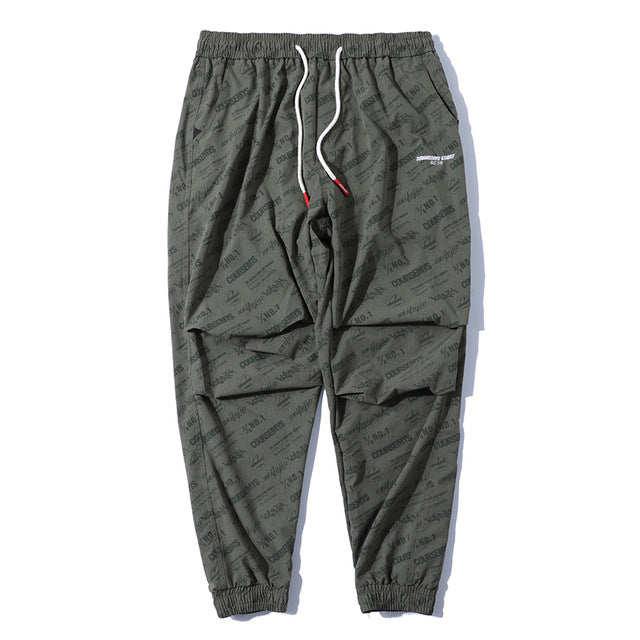 Skateboard Active Letter Draped Casual Joggers