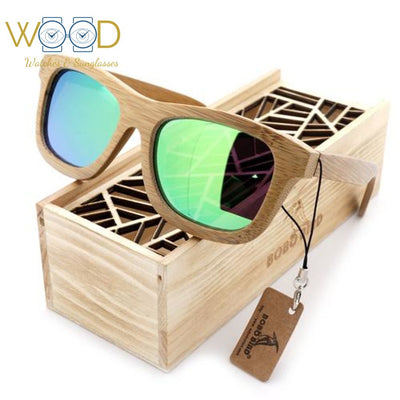 491d98b278 Bamboo Wooden Sunglasses Handmade Polarized Mirror - Passion Hobby Gadgets
