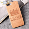 King And Queen Crown Real Wood Phone Case For I Phone And Samsung Smartphones - Passion Hobby Gadgets