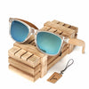 BOBO BIRD Handmade Polarized Sunglasses Women Men With Colorful Lens Transparent Frame Bamboo - Passion Hobby Gadgets