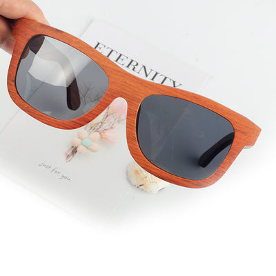 Polarized Sunglasses Wooden Frame Goggles Glasses UV400 Driving Eyewear - Passion Hobby Gadgets