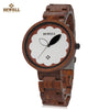 BEWELL ZS - W152A Female Wooden Watch Bloom Dial Leaf Luminous Pointer Natural Wristwatch - Passion Hobby Gadgets