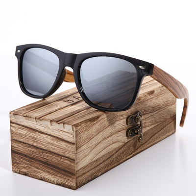 Sunglasses 2019 Polarized Zebra Wood Glasses Hand Made Vintage Wooden Frame Male Driving Sun Glasses - Passion Hobby Gadgets