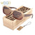 Two colors Wooden Sunglasses Square Polarized Sun Glasses