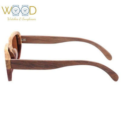 Two colors Wooden Sunglasses Square Polarized Sun Glasses - Passion Hobby Gadgets