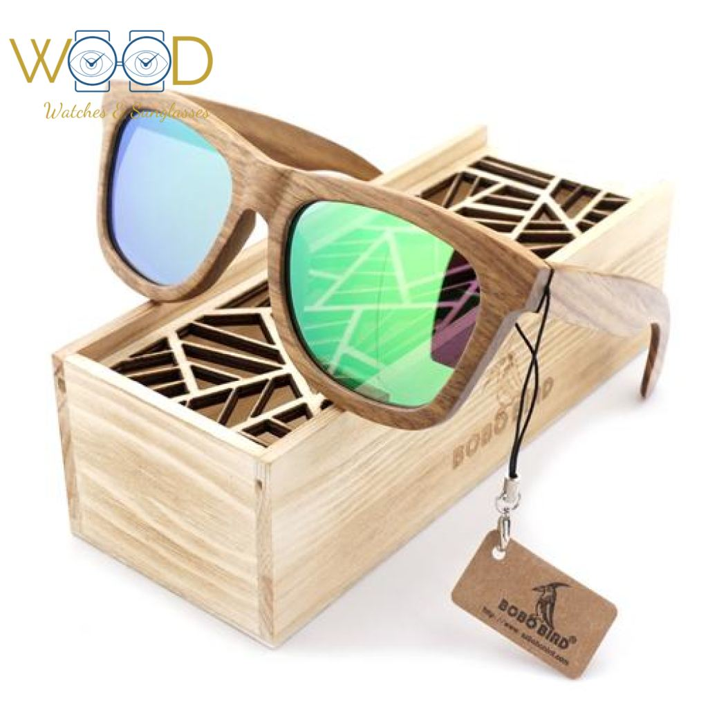 8676d494bae Wood Sunglasses Brown wooden Sunglasses Style Square Green Polarized Lens -  Passion Hobby Gadgets
