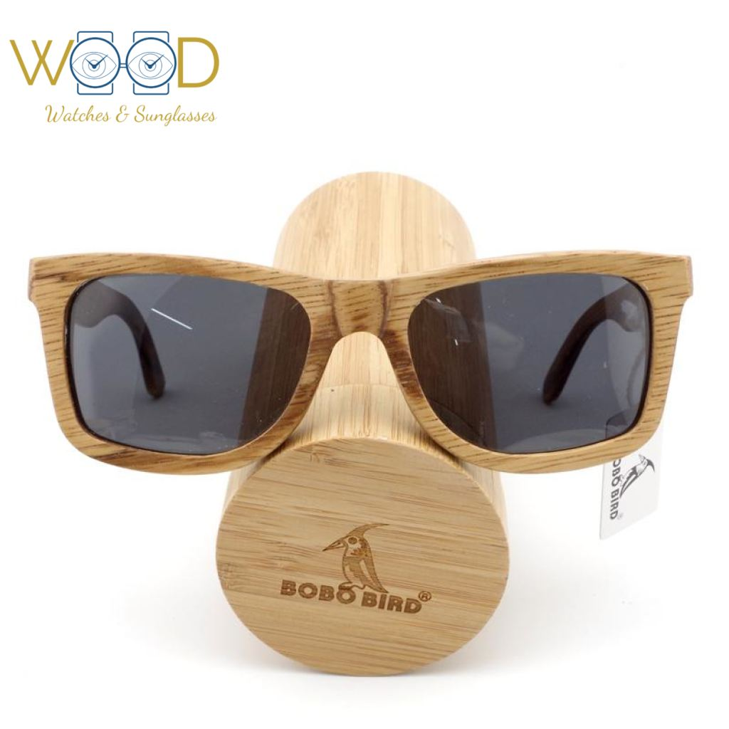8cc449fc3e5 Wood Sunglasses Brown wooden Sunglasses Style Square Grey Polarized Lens -  Passion Hobby Gadgets