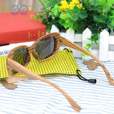 Aviator Style Wooden Sunglasses Luxury Polarized Handmade Eyewear - Passion Hobby Gadgets