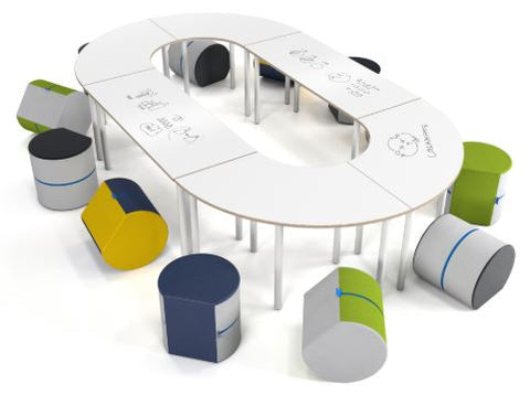 NorvaNivel | COLLABORATIVE COLLECTIVE CC022 COLLECTION | Flexible Classroom Furniture