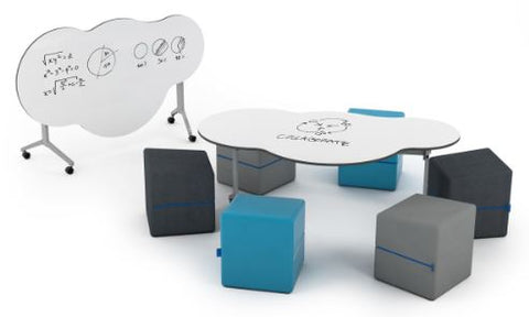 NorvaNivel | SUNSHINEONACLOUDIEDAY FOLDABLE COLLECTION WITH MISSOTT CUBE OTTOMANS | Flexible Furniture