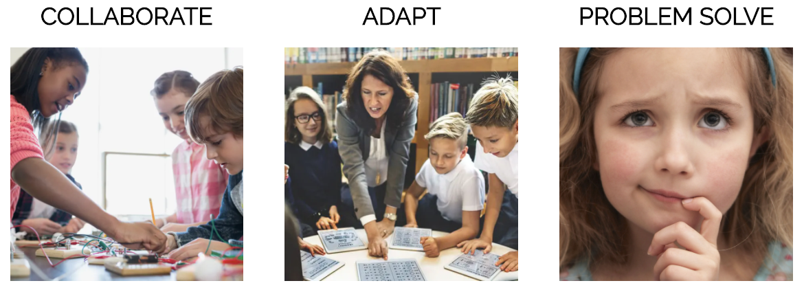 What Skills Do Kids And Student Need To Learn Early On; Collaborate; Adapt; Problem Solve