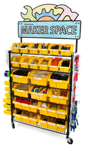 TeacherGeek Maker Cart - The Ultimate STEM / STEAM / Maker Solution