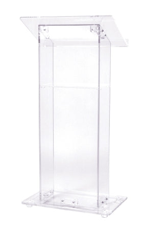 Oklahoma Sound 401S Clear Acrylic Lectern w/ Shelf