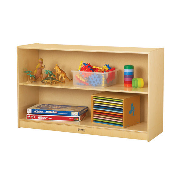 Jonti-Craft 0393JC Low Mobile Straight Shelf