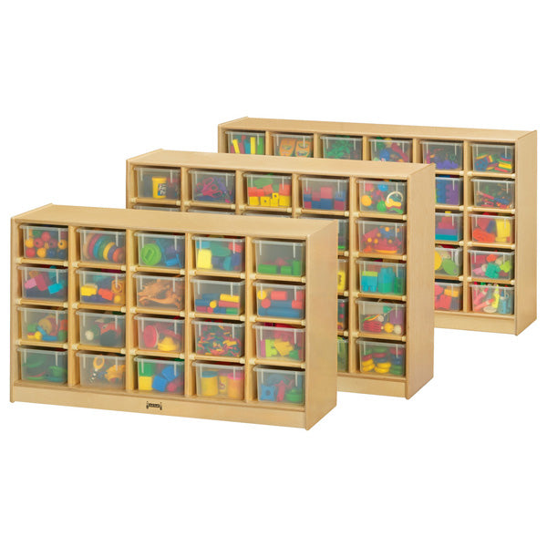 Jonti-Craft 04260JC Mobile Cubbie Storage with 25 Clear Trays