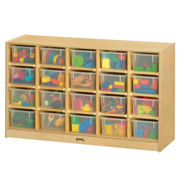 Jonti-Craft 04210JC Mobile Cubbie Storage with 20 Clear Trays