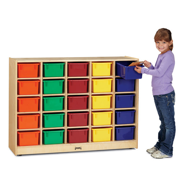 Jonti-Craft 0426JC Mobile Cubbie Storage with 25 Colored Trays