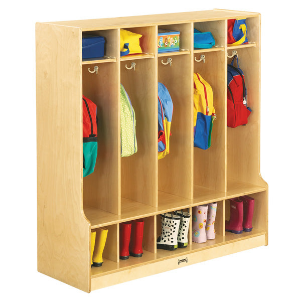 Jonti-Craft 0468JC Five Section Coat Locker with Step