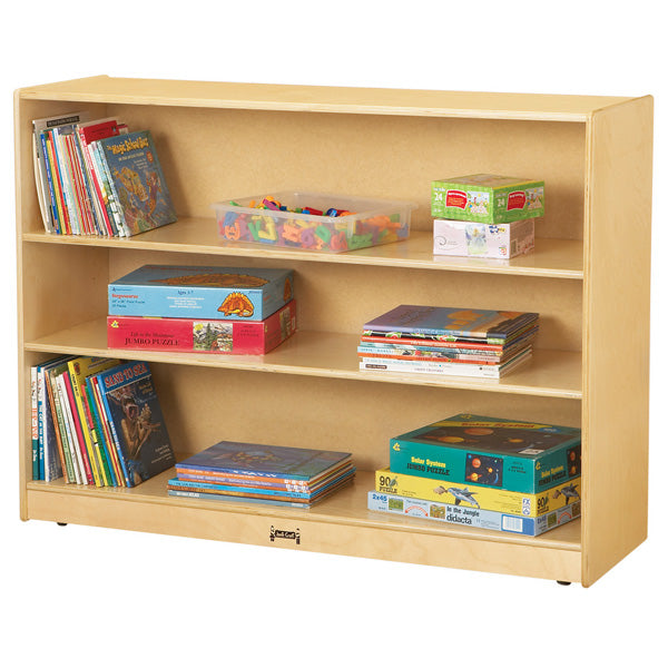 Jonti-Craft 0769JC Super Sized Adjustable Mobile Straight-Shelf