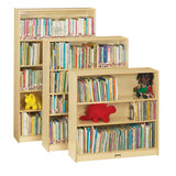 Jonti-Craft 0960JC Short Bookcase with 3 Adjustable Shelves