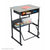 Safco 1202BE AlphaBetter Adjustable Stand Up Desk with Standard Top, Book Box and Swinging Footrest Bar 20 x 28