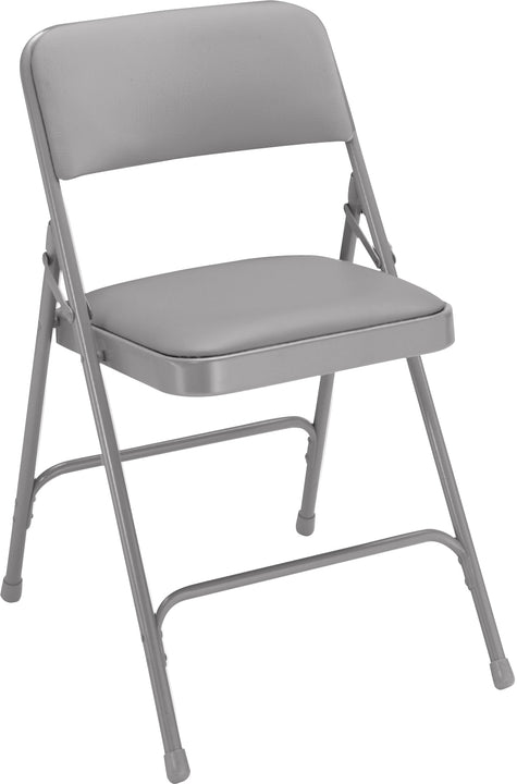 National Public Seating 1200 Series Premium Vinyl Upholstered Folding Chair - Pack of 4