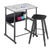 Safco 1203 AlphaBetter Adjustable Stand Up Desk with Premium Top and Swinging Footrest Bar 20 x 28