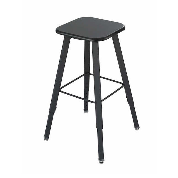 Safco 1205BL AlphaBetter Adjustable Student Stool with Thermoplastic Seat and Tip-Resistant Base