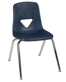 "Scholar Craft SC129 Navy School Stack Chair 18.5"" Seat Height Set of 5 - Quick Ship"