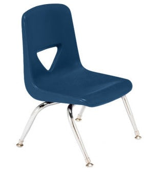 "Scholar Craft SC123 Navy School Stack Chair 13.5"" Seat Height Set of 5 - Quick Ship"
