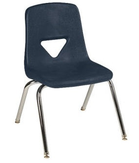 "Scholar Craft SC125 Navy School Stack Chair 15.5"" Seat Height Set of 5 - Quick Ship"