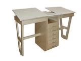 Hann SA-21 Dual Station Drawing Table with 6 Drawer Storage Cabinet