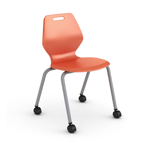 "Paragon AND-READY-4L18C A&D Ready 4-Leg Classroom Chair with Casters 18"" Seat Height"