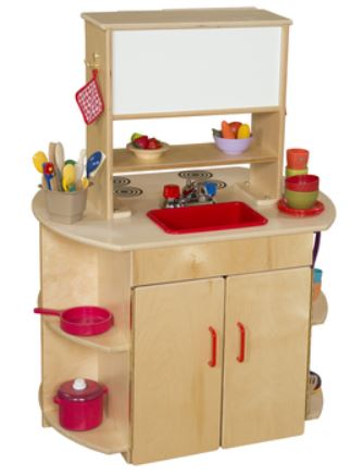 Wood Designs WD10875 All-In-One Play Kitchen Center