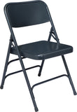 National Public Seating 300 Series Premium Steel Triple Brace Folding Chair - Pack of 4
