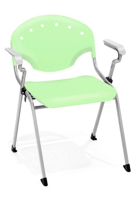"OFM 306 Rico Stack Chair with Arms 18"" Seat Height"