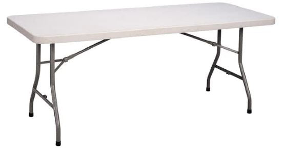 Correll CP3072-33 Light Duty Fixed Height Blow-Molded Rectangle Folding Table 30 x 72