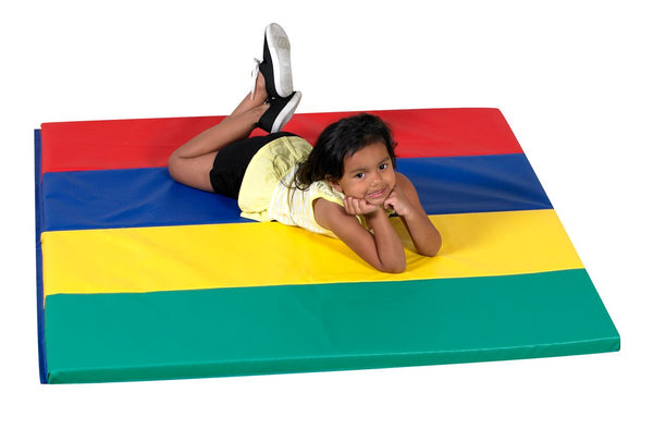 Children's Factory CF321-144 Rainbow Folding Gym Mat 4 x 4