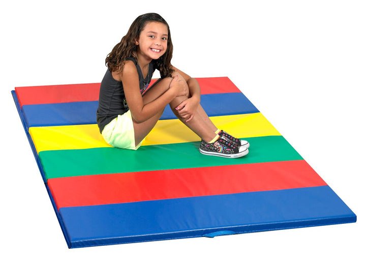 Children's Factory CF321-145 Rainbow Folding Gym Mat 4 x 6