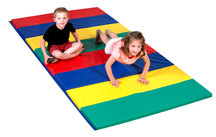 Children's Factory CF321-148 Rainbow Folding Gym Mat 4 x 8